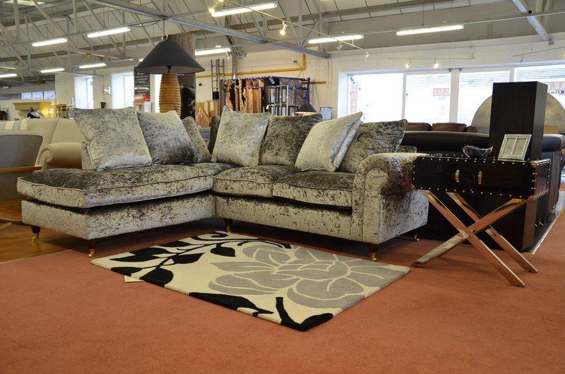 Fabric Sofas Suites Opal Silver Velvet Corner Sofa With Castor Feet Corner Sofa Velvet Corner Sofa Top Furniture