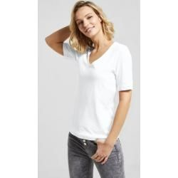 Street One - Basic Shirt Palmira in White Street OneStreet One #style #Accessories #shopping #styles #outfit #pretty #girl #girls #beauty #beautiful #me #cute #stylish #photooftheday #swag #dress #shoes #diy #design #fashion #outfits