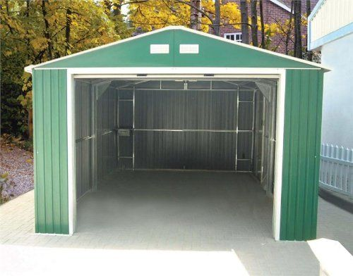 Garden Sheds 20 X 12 duramax 12 x 20 metal utility building - green storage shed kit
