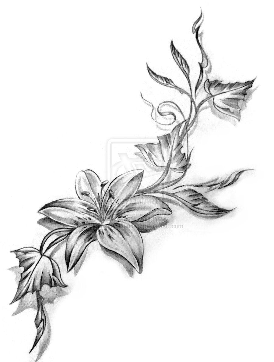 Flower ribbon tattoo designs tattoos pinterest ribbon tattoos flower ribbon tattoo designs izmirmasajfo