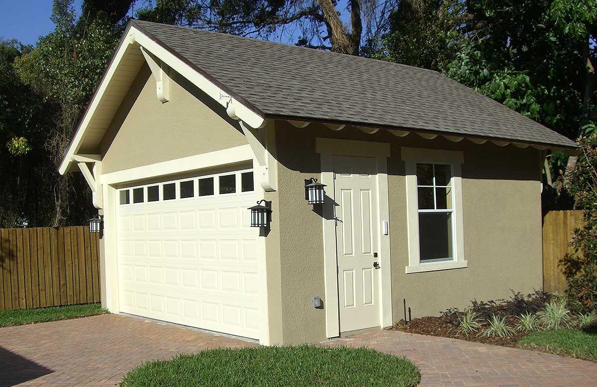 Plan 44080td craftsman style detached garage plan for Detached workshop plans