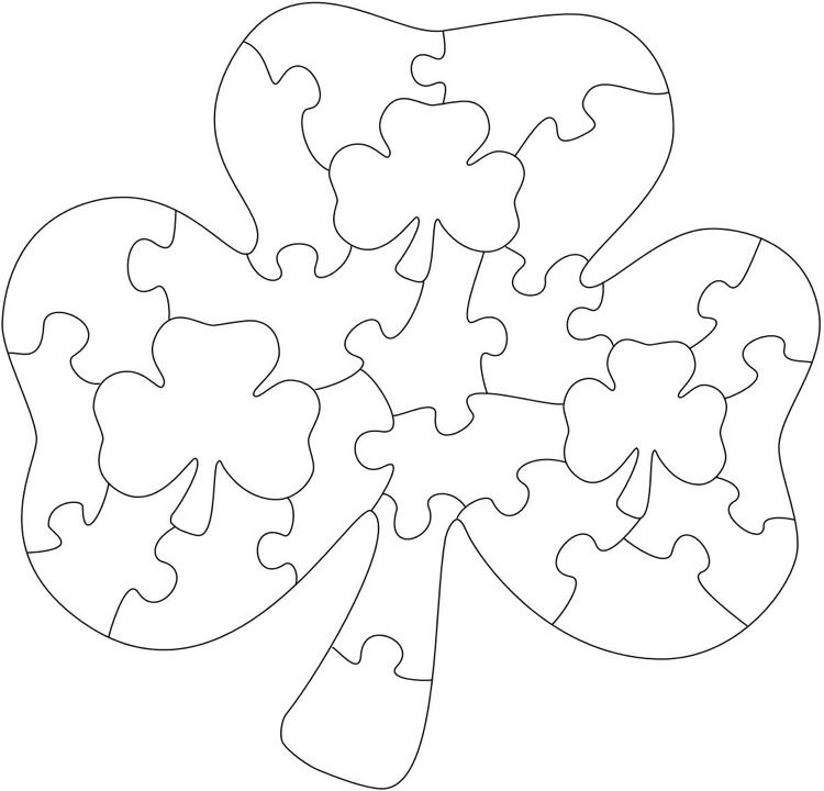 Dekupiersage Vorlagen Kostenlos Ausdrucken Puzzle Klee Kinder Dekupiersage Vorlagen Puzzles Holzpuzzle