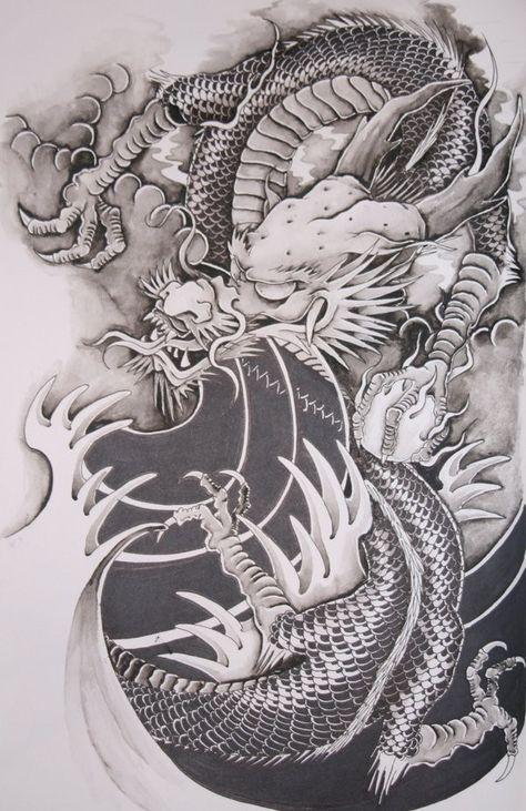 Dessin Tatouage Dragon Chinois Random Chinese Dragon Tattoos