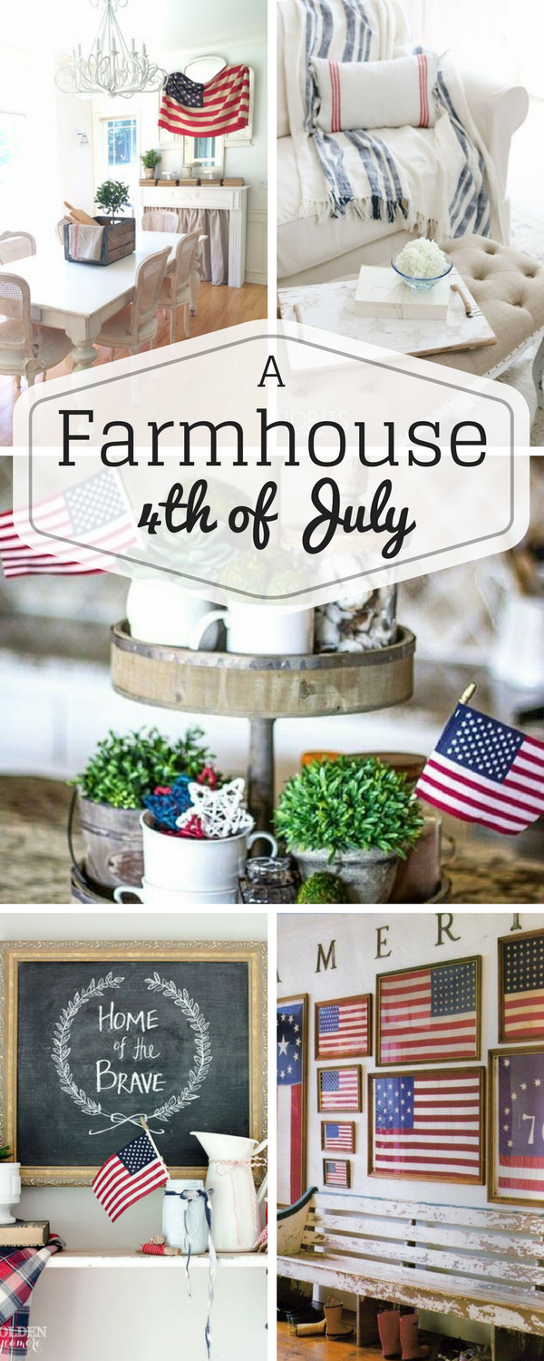 The summer season will be kicking off soon! Here is a round up of Farmhouse 4th of July Decor to inspire your Red White and Blue decorating! #bedroomdecor #bathroomdecor