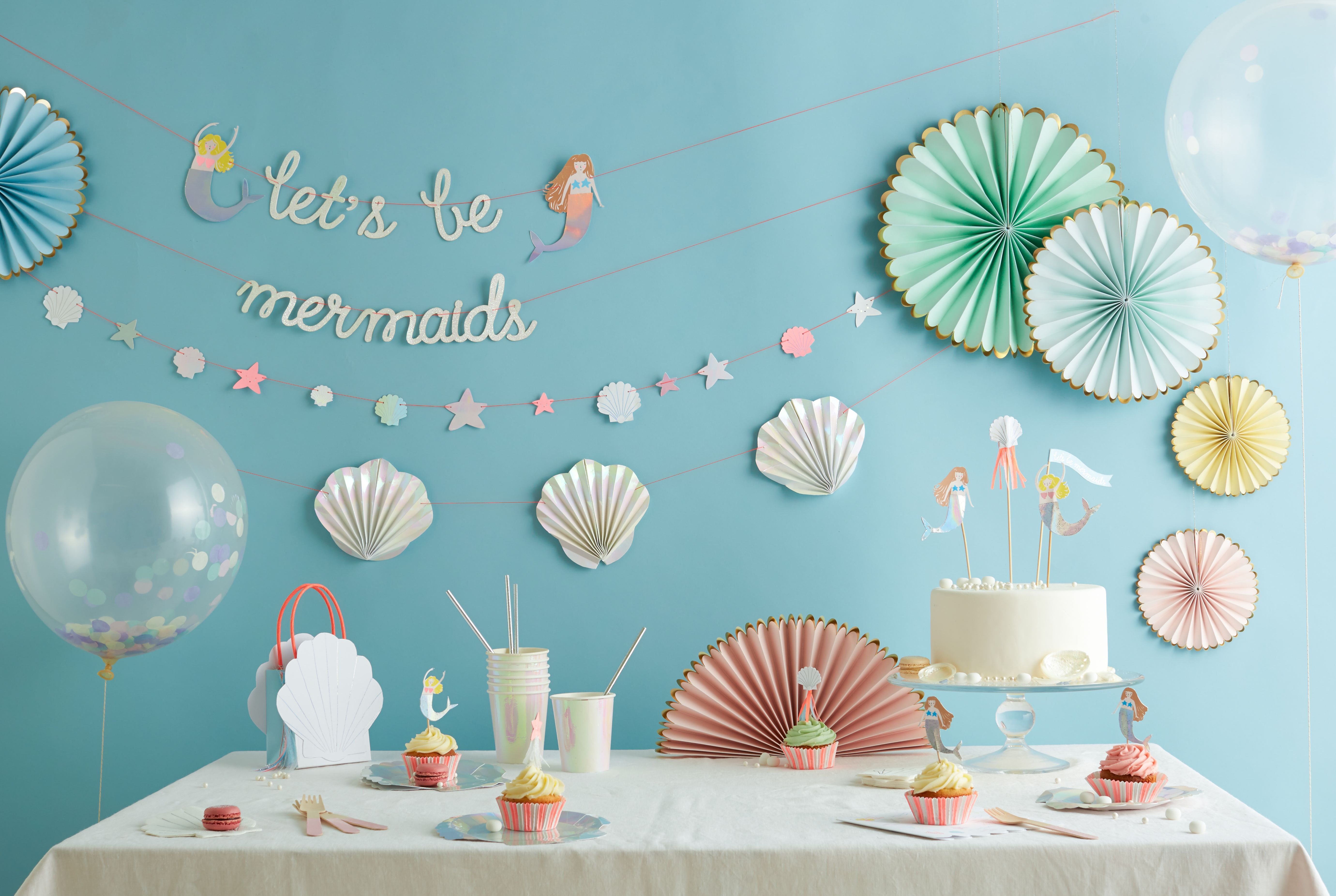 Mermaid Theme Party Mermaid Birthday Party Mermaid Party Ideas