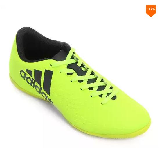 b09f709cb3 Chuteira Futsal Adidas X 17.4 IN Masculina