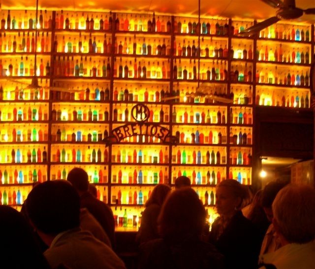 Great back bar: low amber glow, strong product display... mmm... yes