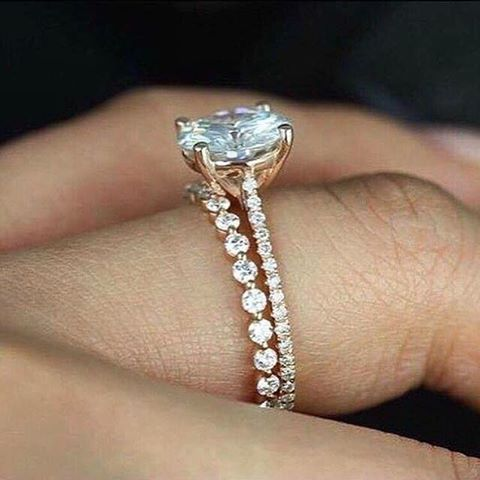 Rose Gold Solitaire Engagement Ring With A Gorgeous Single
