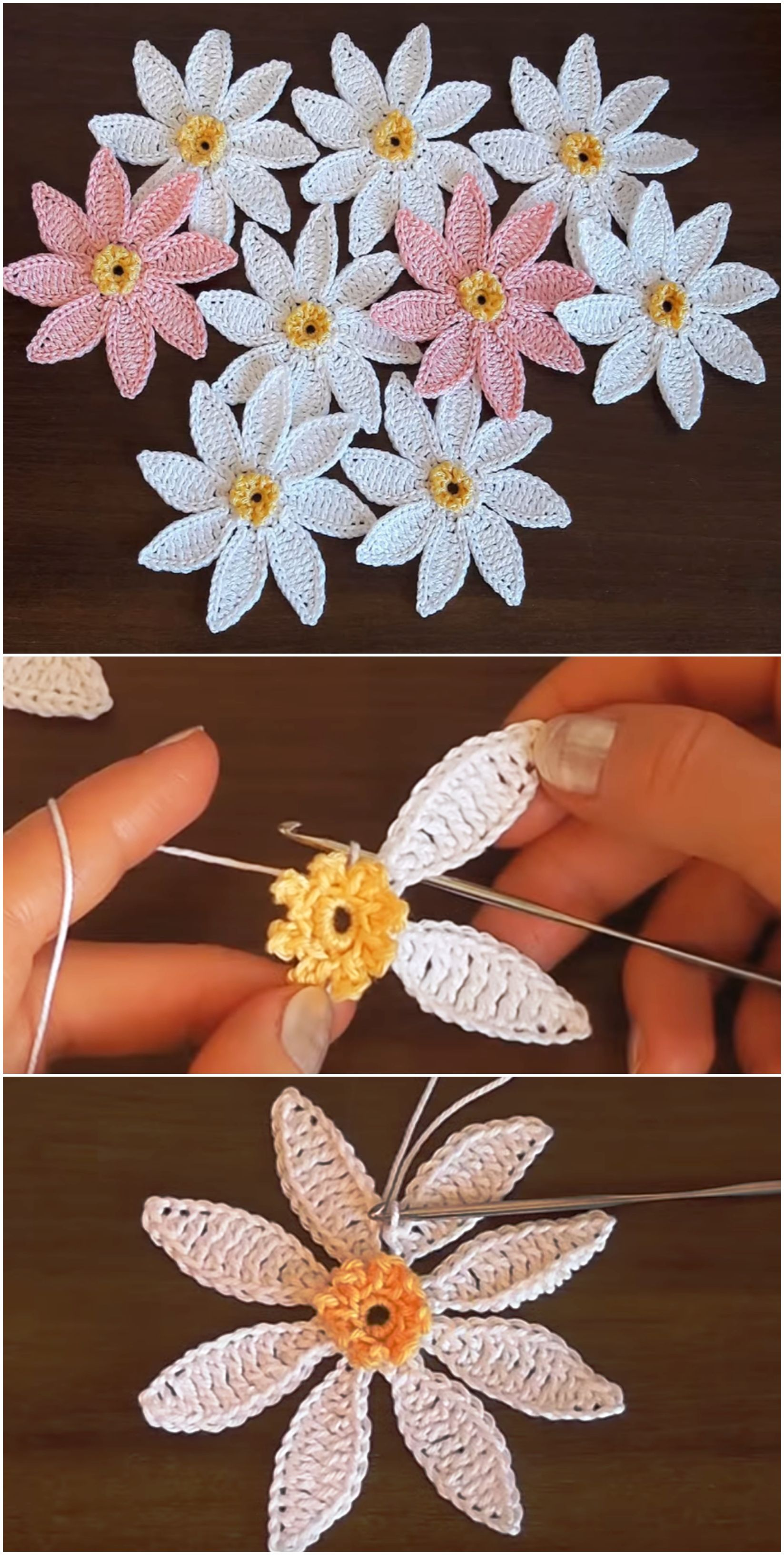 Crochet Very Easy Flower #crochetedflowers