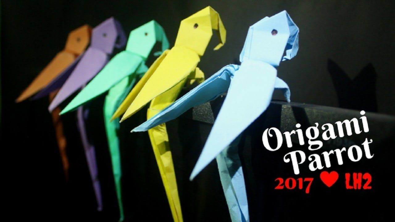 How To Make A Paper Parrot Origami Step By Easy And Simple Origamiorigami Macaw Parrotorigami Diagram