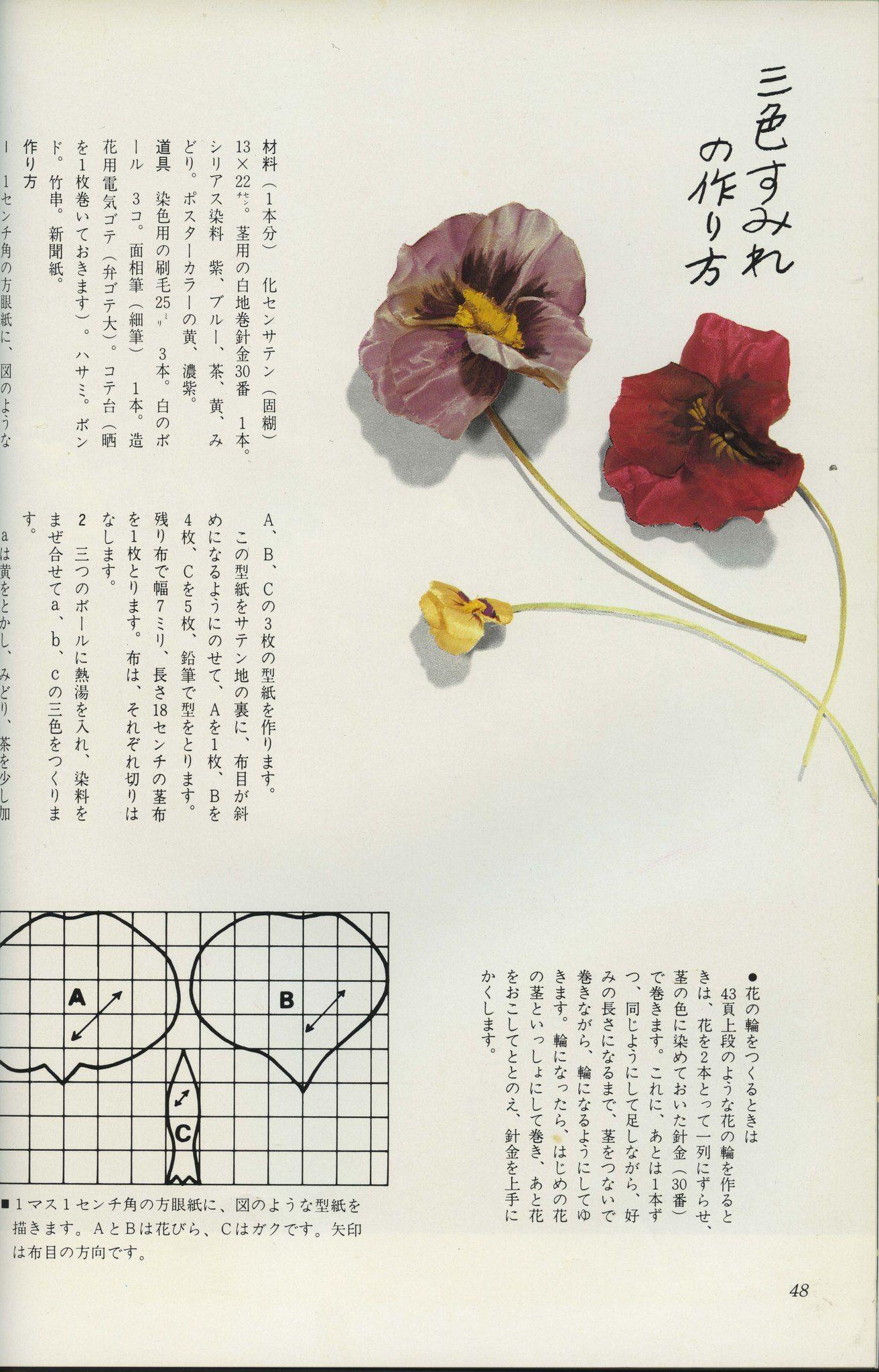 «Делаем цветы из ткани» Автор - Yamagami Rui (1984г)