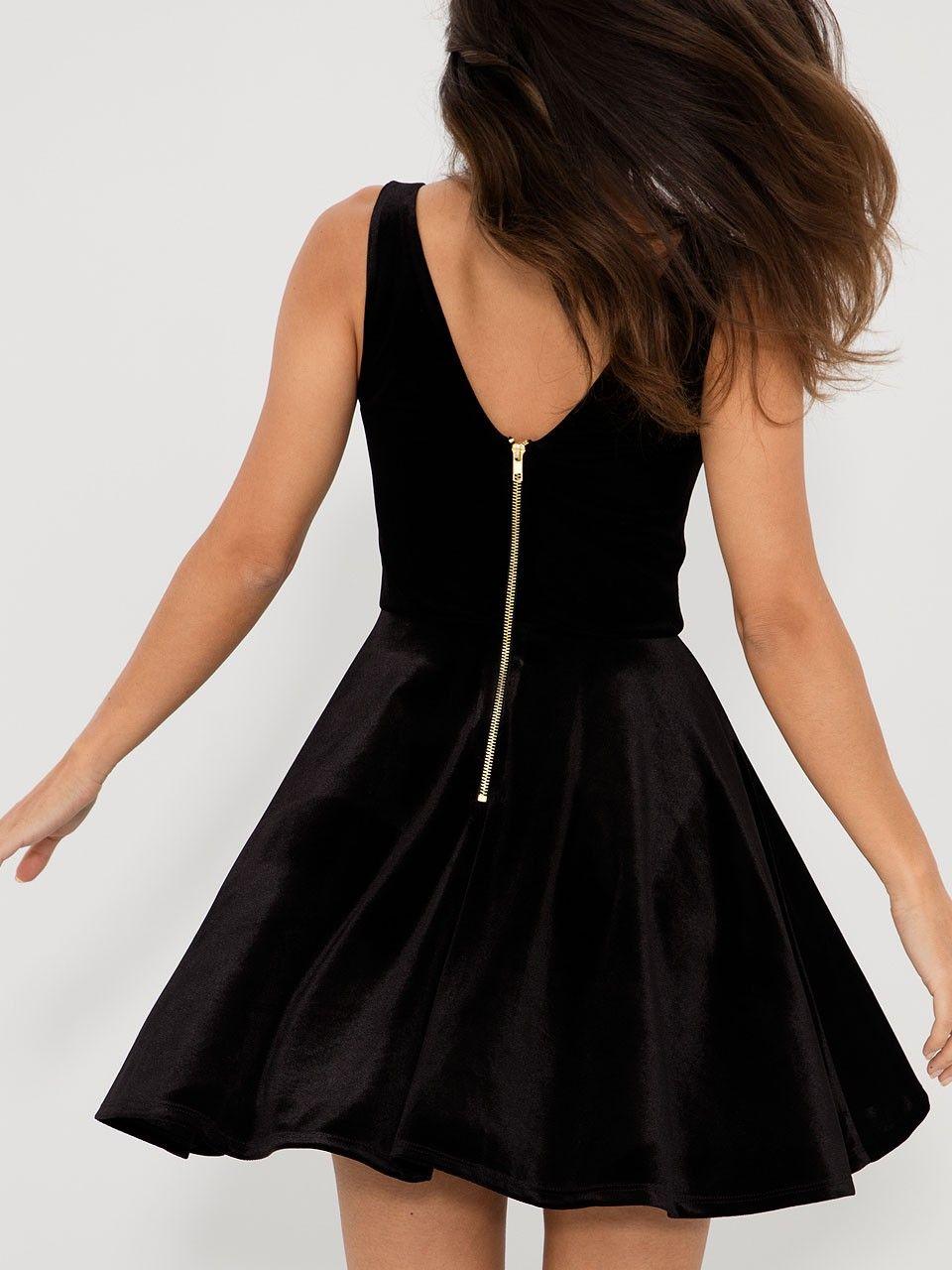 W black velvet and mesh skater dress clothing pinterest black