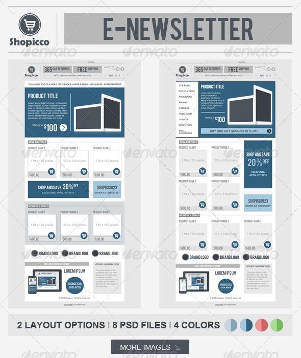 Shopicco E Commerce Newsletter Email Newsletter Template Design Newsletters Ecommerce