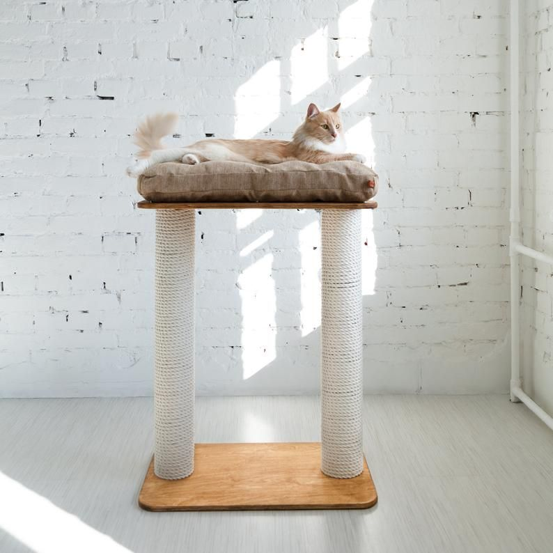 Cat Scratching Post Towers Height 342 Inch Cat Etsy Modern Cat Furniture Cat Scratching Post Cool Dog Beds