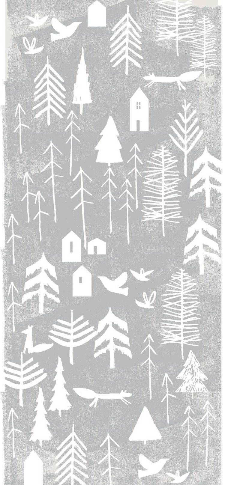 Pattern Christmas Prints Scandinavian Pattern Christmas Wallpaper