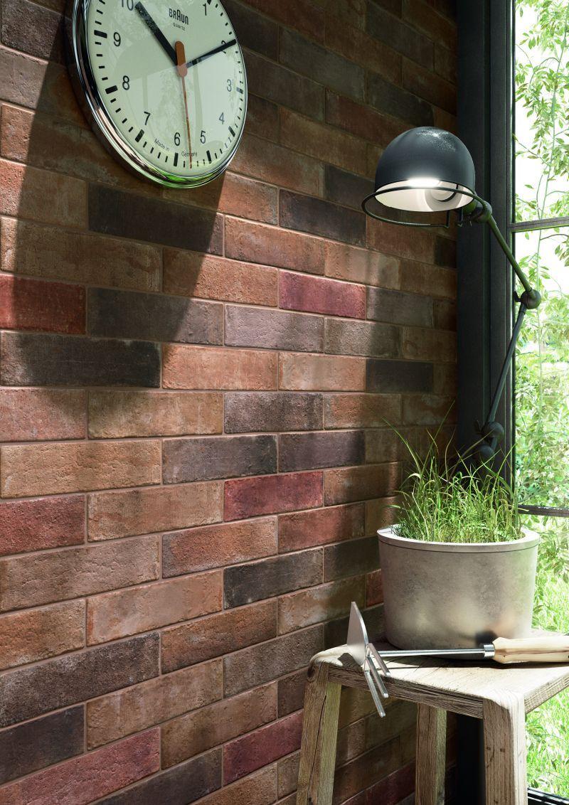 Setze Dein Bad In Szene Durch Moderne Backsteinoptik! Erschaffe Eine  Steinwand Aus Fliesen!