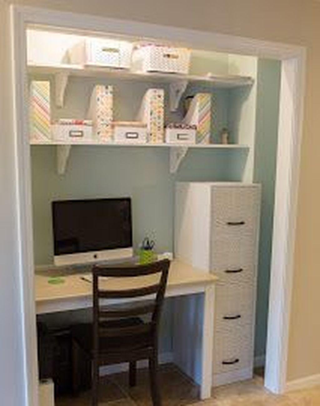 49 Beautiful Small Work Office Decorating Ideas -   22 diy closet office ideas