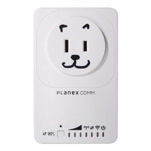 Amazon Co Jp限定 Planex 11n G B 300mbps コンセント直挿型中継器 コンセント1口追加 Led消灯可 忠継大王 Mzk Ex300np 無線 電波 中継