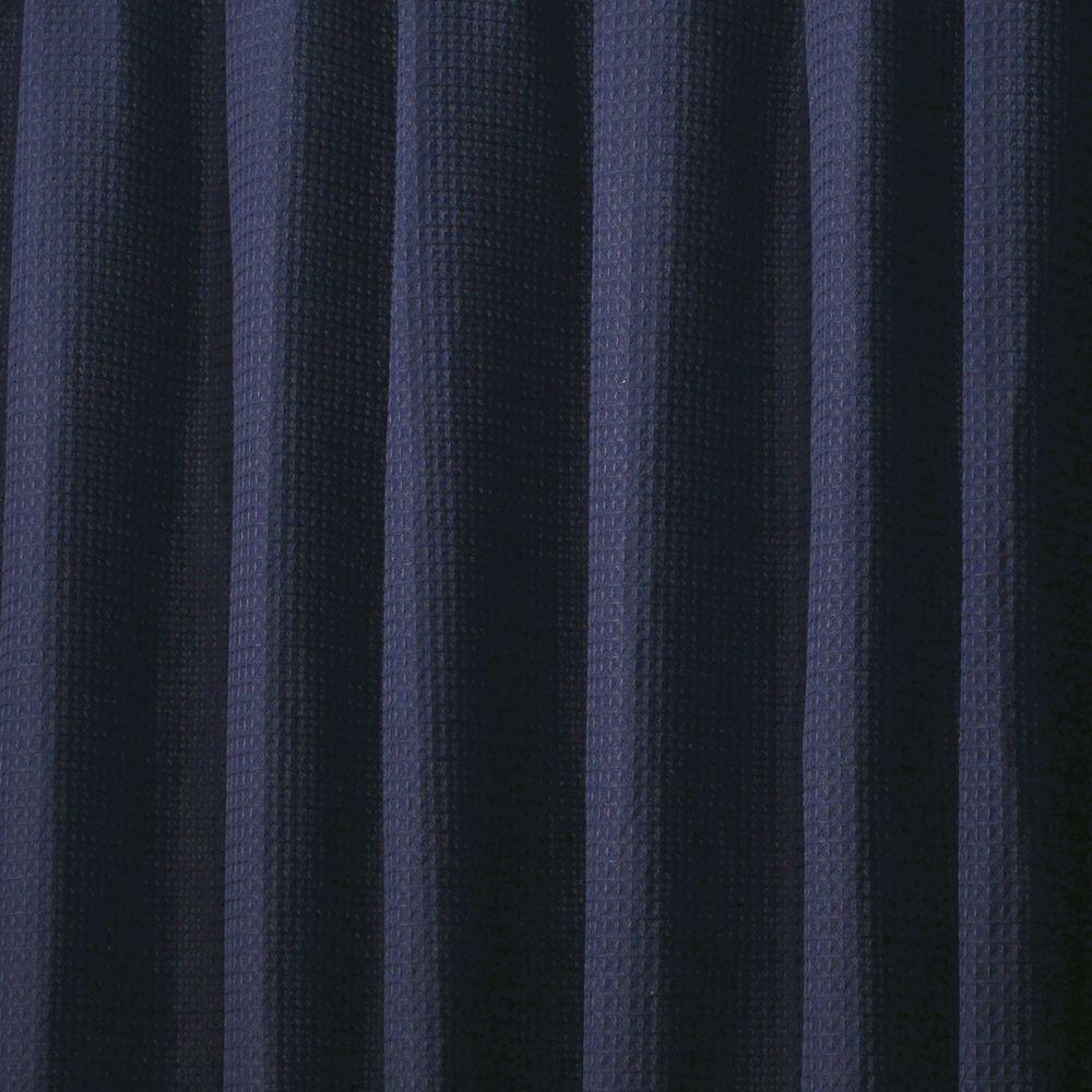 InterDesign York Shower Curtain In Navy Blue