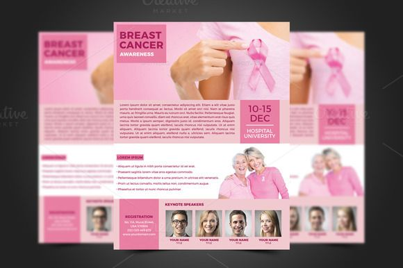 Breast Cancer Flyer Template Flyer Template Template And Adobe