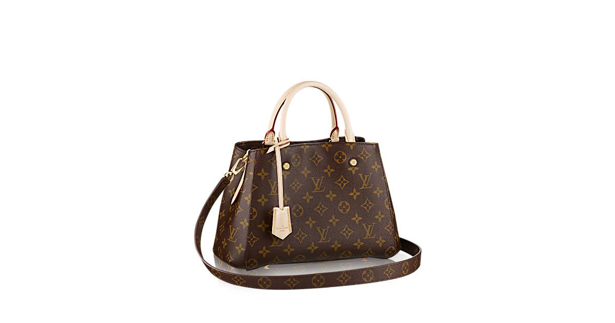 191a3acd8608 Discover Louis Vuitton Montaigne BB  The Montaigne BB bag in iconic  Monogram canvas combines a smart