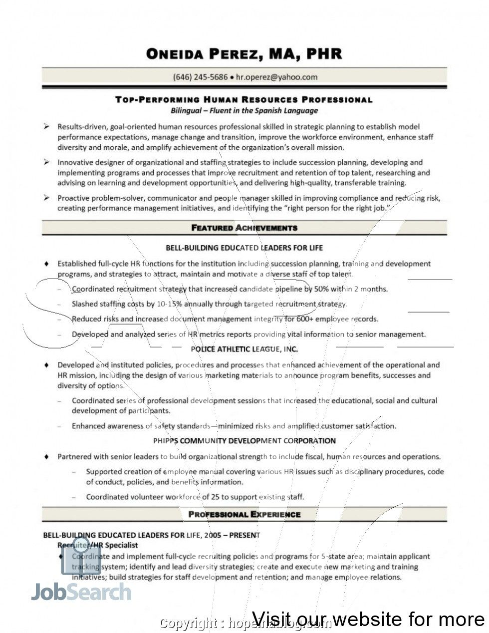 Top Performing Human Resources Professional Career Tips Human Resources Jobs Human Resources Resume Nursing Resume Template Human resources business partner resume templates