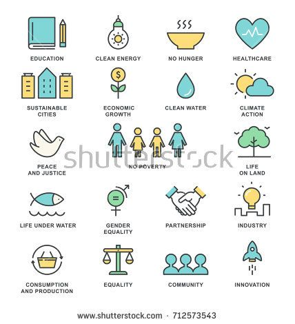 sustainable development goals and sustainable living implementation concept line a sustainable development design line art vector sustainable development goals pinterest