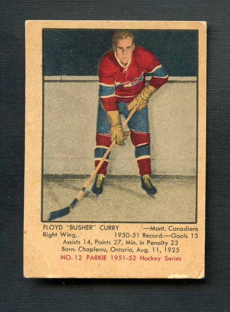 1951 Parkhurst Hockey 12 Floyd Busher Curry Montreal Canadiens