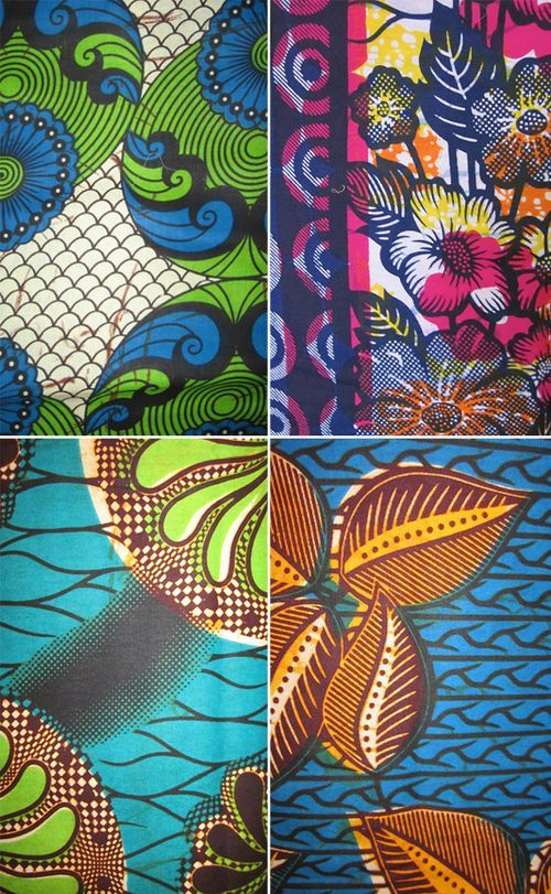 Wax patterns in wonderful vibrant colors secret design for Modern kids fabric