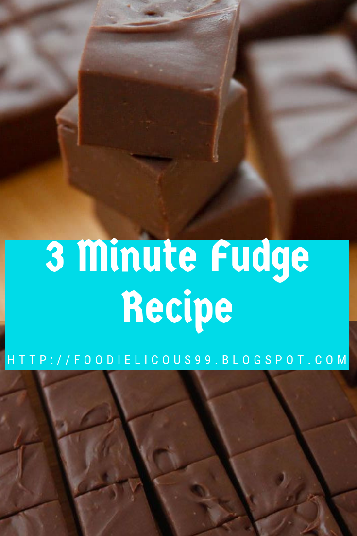 3 Minute Fudge Recipe Ingredients 1 Can Sweetened Condensed Milk 14 Ounces 1 Teaspoon Vanilla Extract 2 Cups 1 12 Ounce Bag Semi Candy Chocolate C En 2020