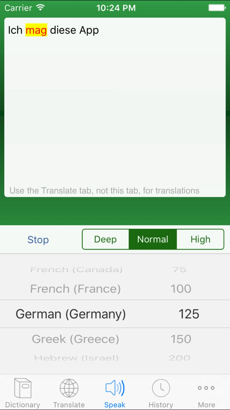 Multi Lang Dictionary and Translator Text to Speech with