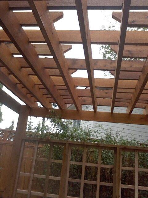 Pergola Shadow View | Cedar Decks | Pinterest