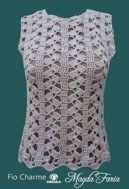 Pin De Hortencia Rodriguez En Minhas Roupas Em Croche Tejidos De Ganchillo Ganchillo Ganchillo Ropa