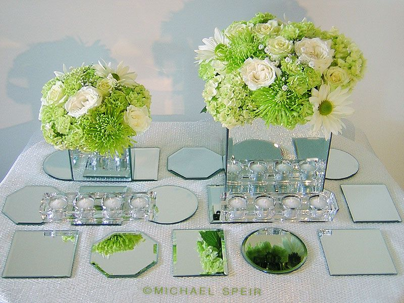 Mirror Box Centerpiece And Mirror Mosaic Table Runner Overview