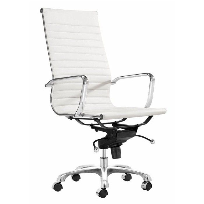 AG Management High Back Office Chair: This Stylish Contemporary Office Chair  Has A Smart Sling Seat Design In Sophisticated Color And High Tech Chrome.