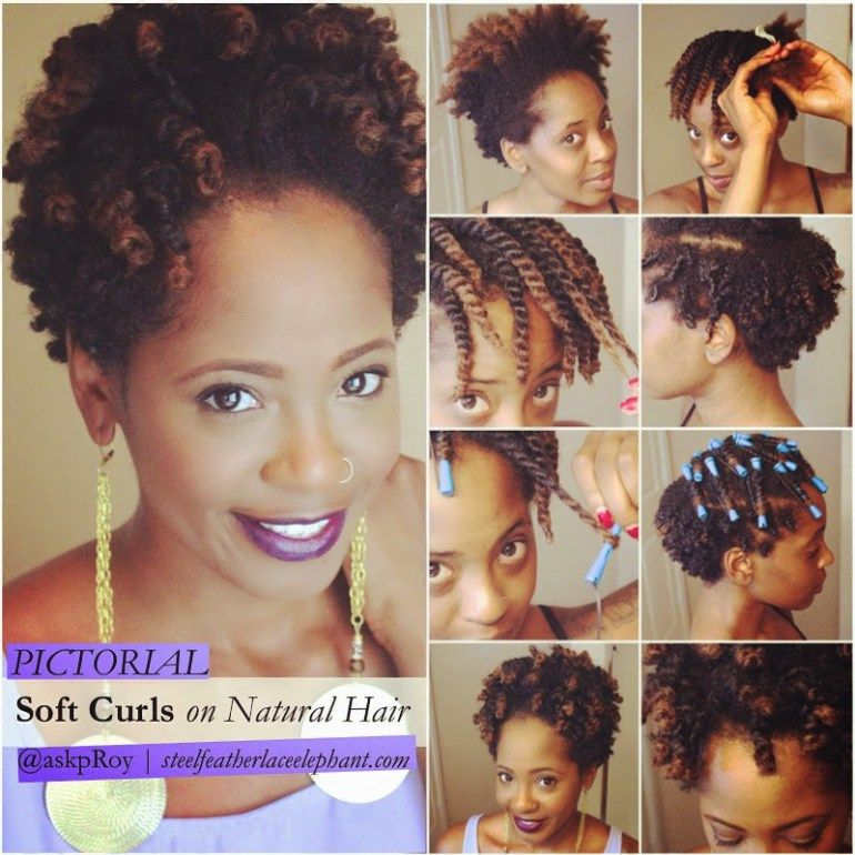 Soft Curls to Fluffy 'Fro on Natural Hair - Steel Feather Lace Elephant #softcurls