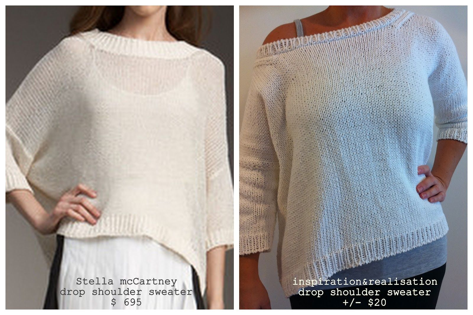 drop shoulder sweater - Great if you like to knit. \