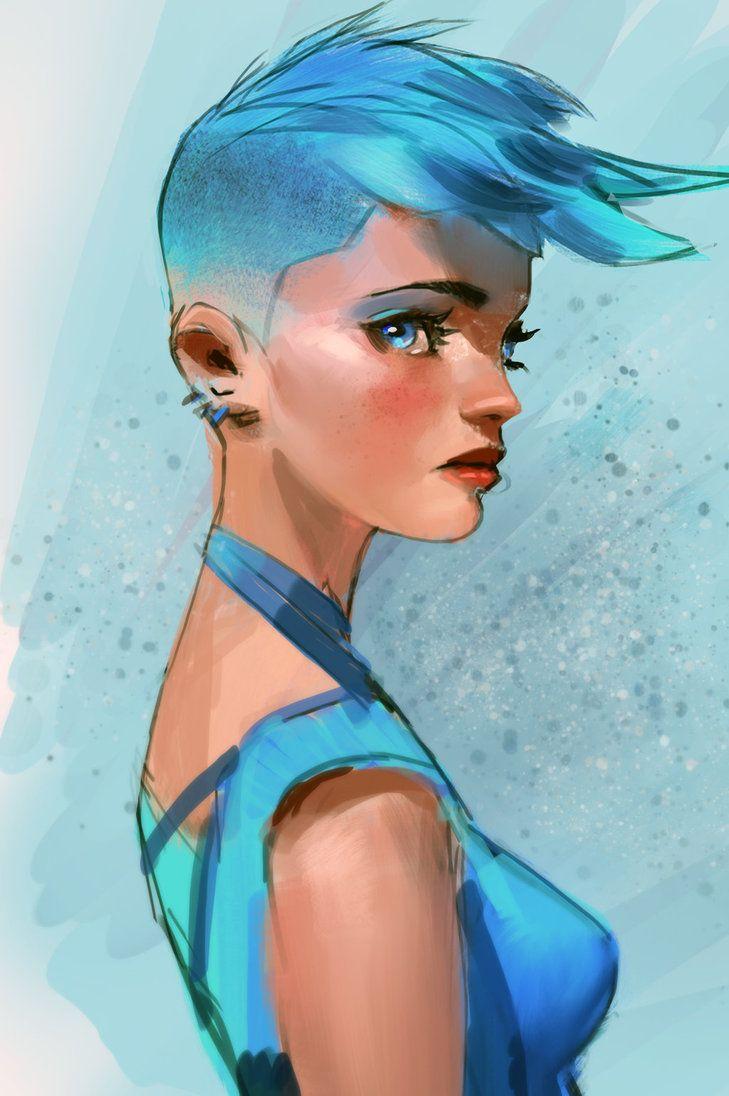 Blue Hair High Res Blue Hair Blue Haired Girl Short Blue Hair