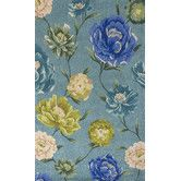 Found it at Wayfair - Catalina Blue Floral Oasis Area Rug