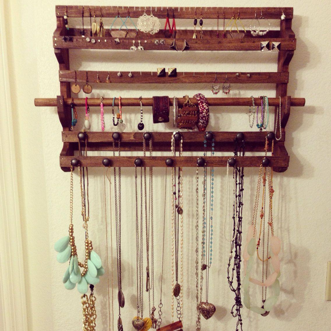 Wooden Jewelry Display Holder   Estanterías y Cajas