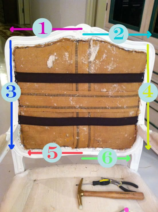 detailed instructions on how to reupholster a chair