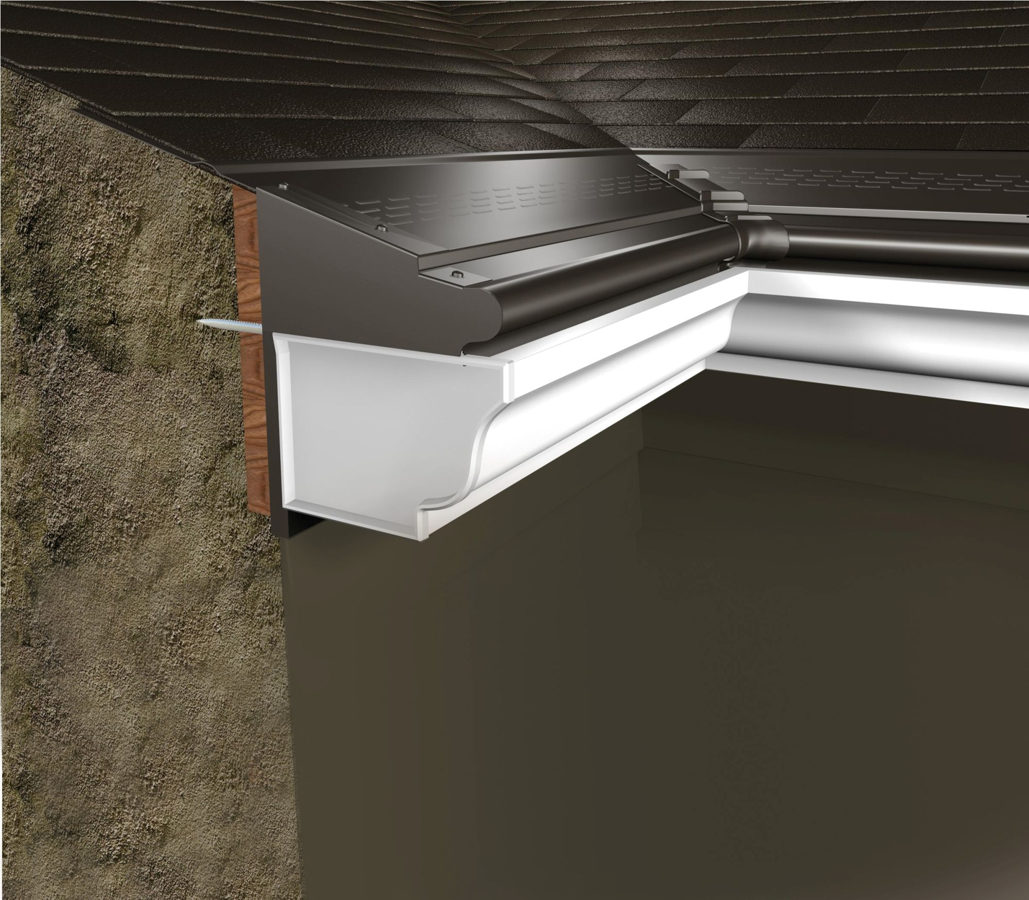 Interior Gutter Protection To Illustrate The Installation Of The New Building Shape That Fits With A Matchin Gutter Protection Gutter House And Home Magazine