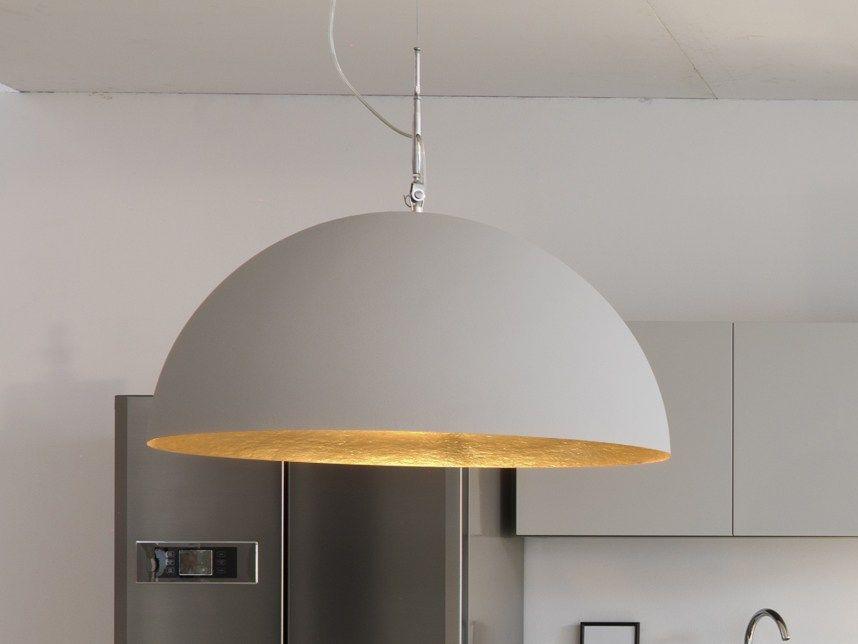 Mezza luna 1 cemento lampadario cucina pendant lamp resin