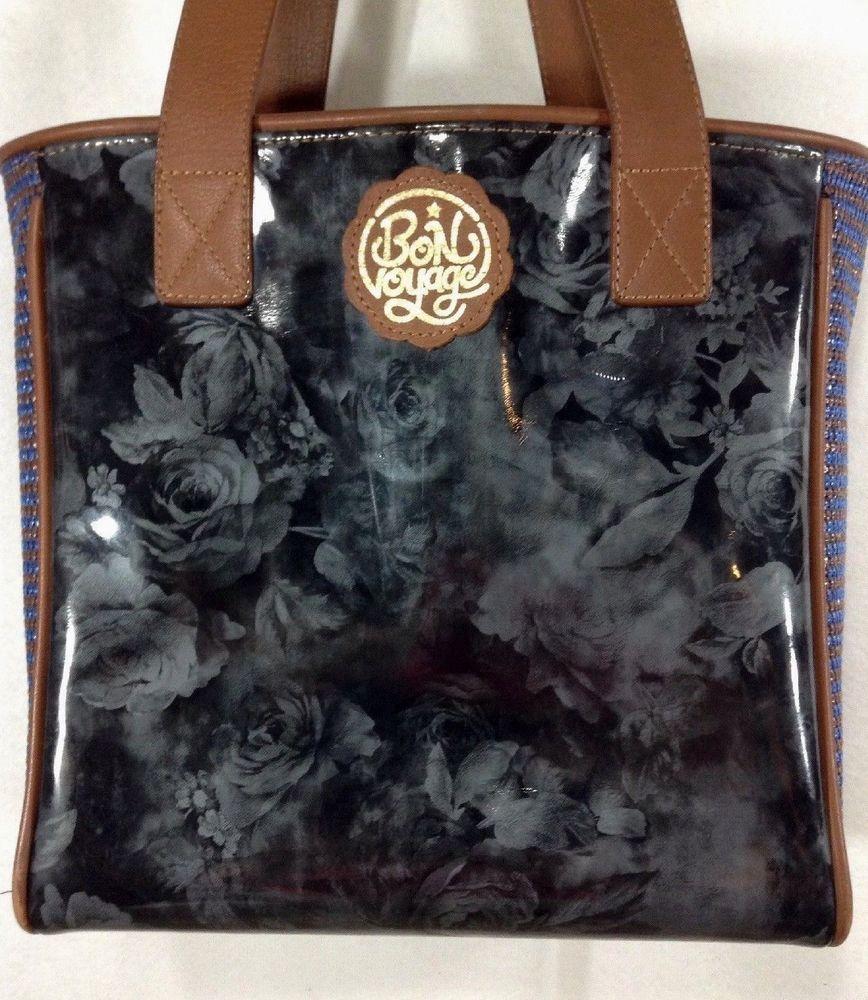 7e977ea0c Consuela Classic Tote Black Riviera Retired Bag Purse Handbag Leather  Floral #Consuela #Tote #BTS #backtoschool #bag #handbags #purse #roses # black # ...