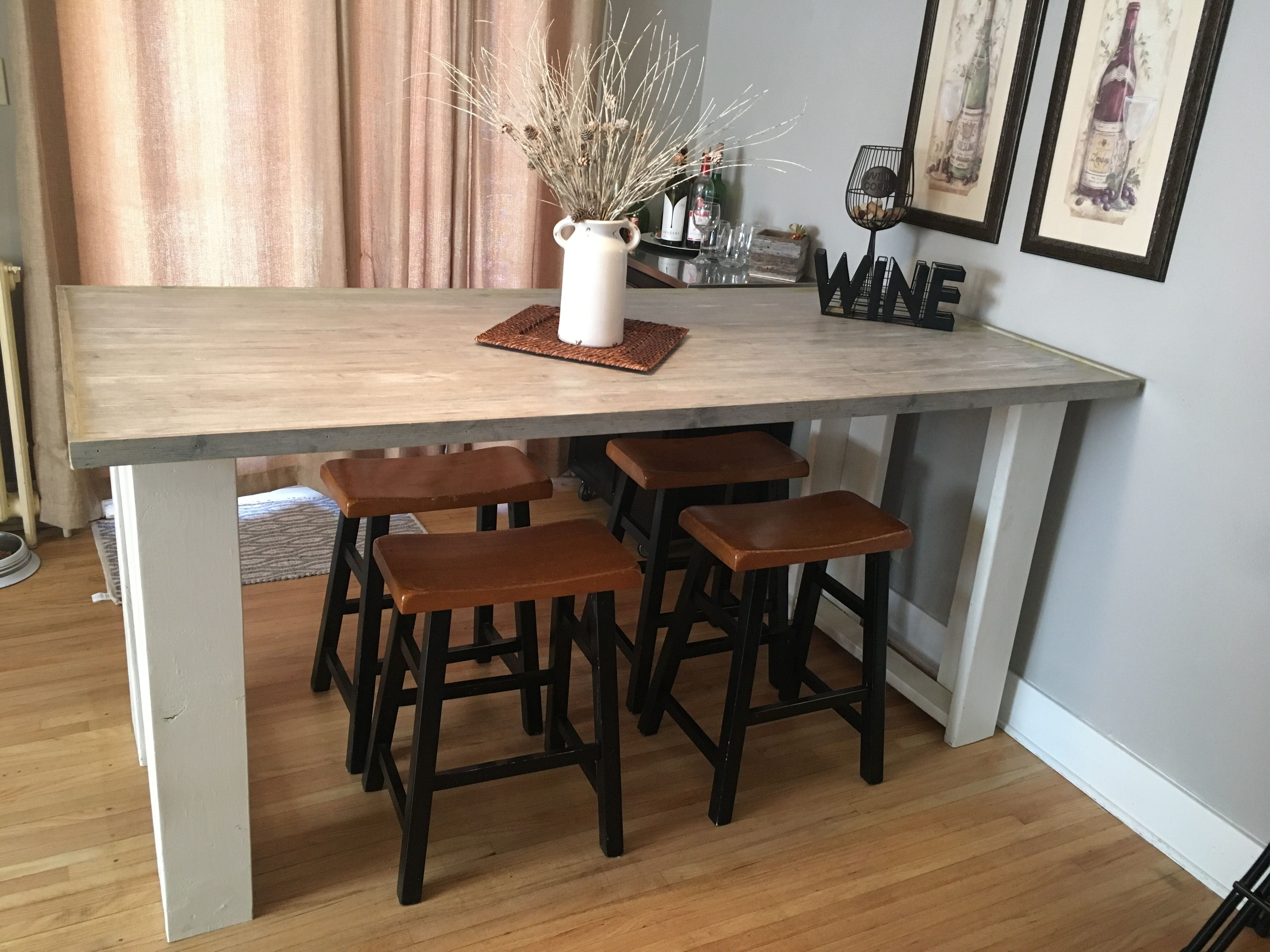 Counter height farmhouse table with images farmhouse