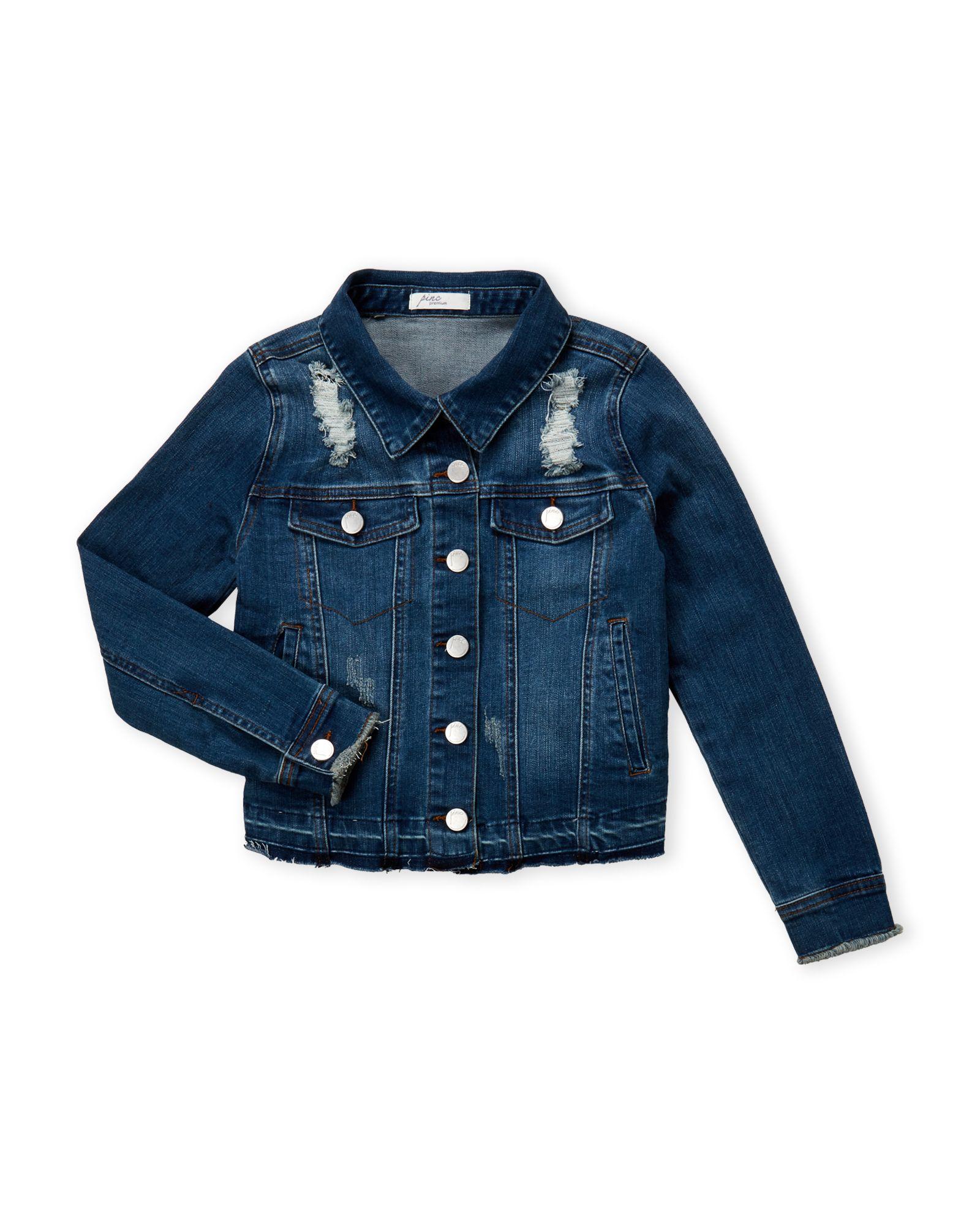 f0cc490e4 Girls 7-16) Distressed Denim Jacket in 2019   *Apparel & Accessories ...