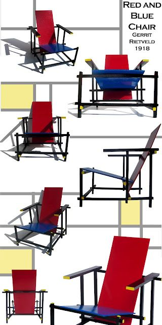 gerrit rietveld 1918 red blue chair modern art. Black Bedroom Furniture Sets. Home Design Ideas