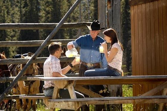 Stop and enjoy and afternoon refreshment following a scenic ride on horseback through the Canadian Rockies. There are few experiences as beautiful as this.