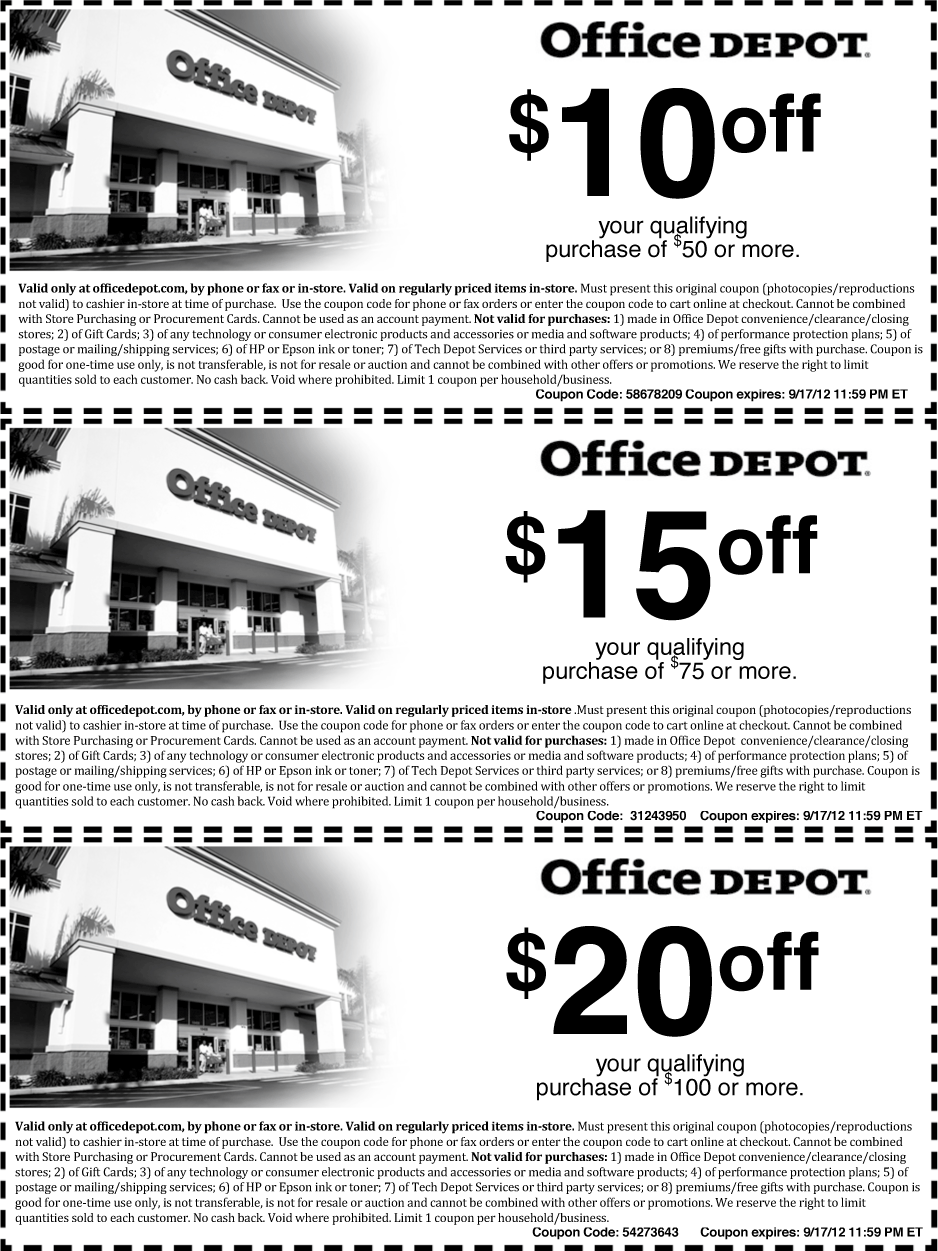 Office Depot Deal! Coupon apps, Clearance stores, Office