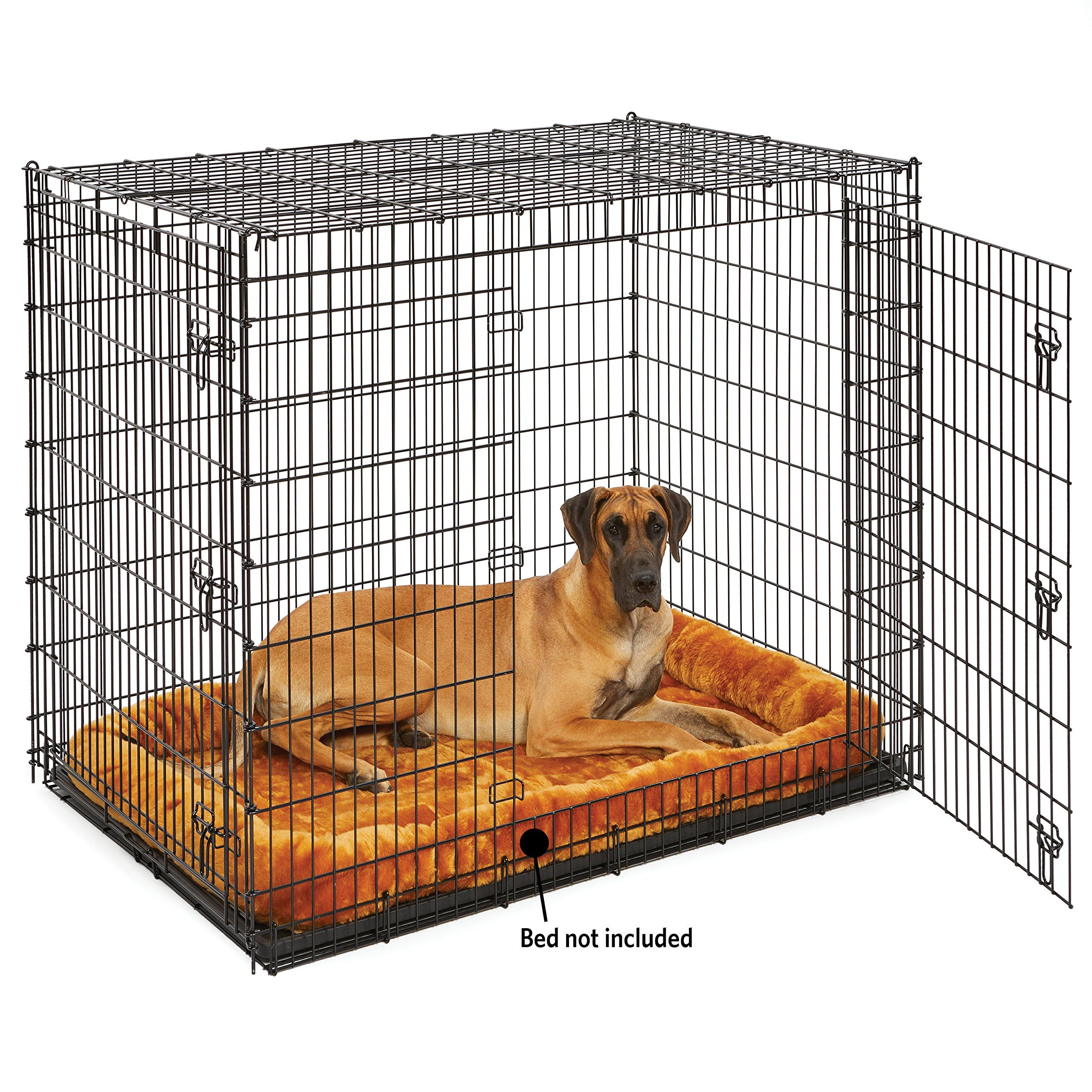 Midwest Homes For Pets Xxl Giant Dog Crate 54 Inch Long Ginormous Double Door Dog Crate Ad Xxl Affiliate Giant Dog Giant Dogs Dog Crate Xxl Dog Crate